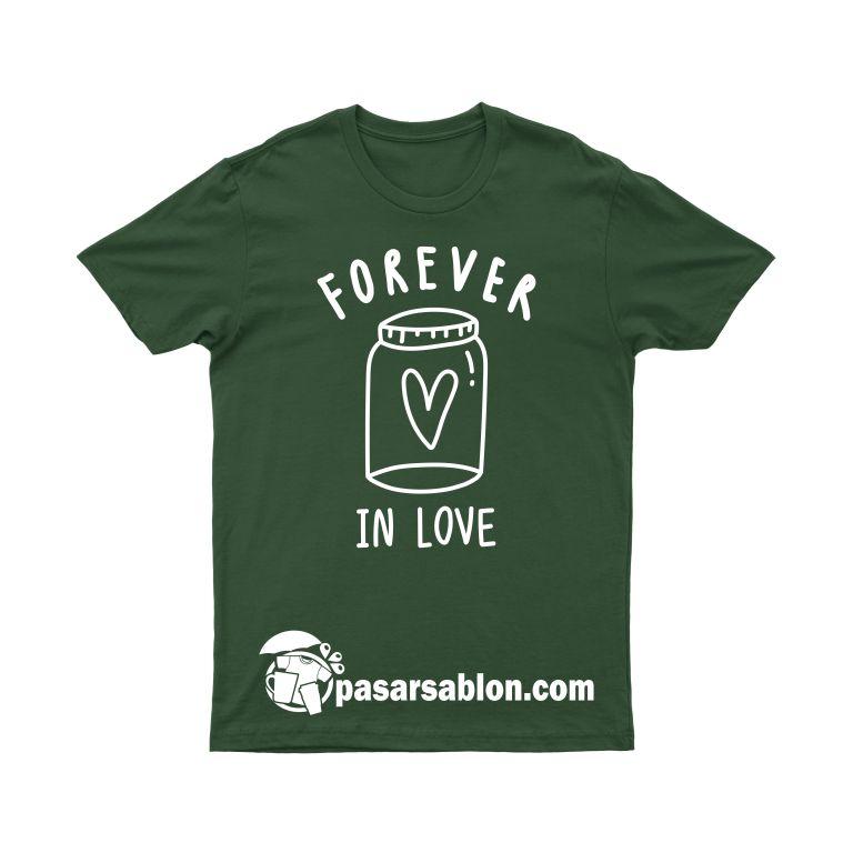 Pasar Sablon Kaos Couple Forever In Love