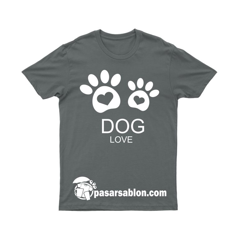 Pasar Sablon Kaos Dog Love 1