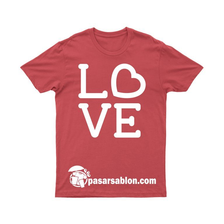 Pasar Sablon Kaos Love 1