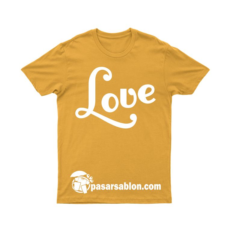Pasar Sablon Kaos Love 2