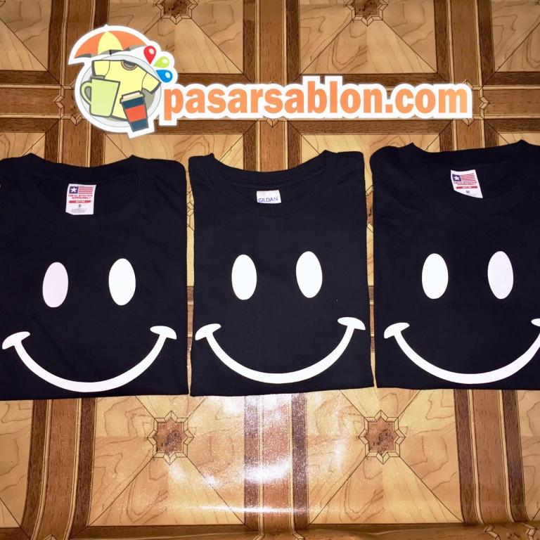 Pesanan Sablon Kaos Couple Smile
