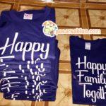 Pesanan Sablon Kaos Happy Family Together