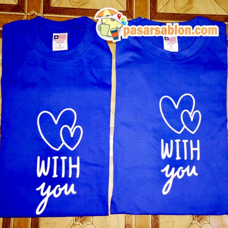Terimakasih Pesanan Kaos Love With You Biru