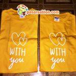 Terimakasih Pesanan Kaos Love With You Gold