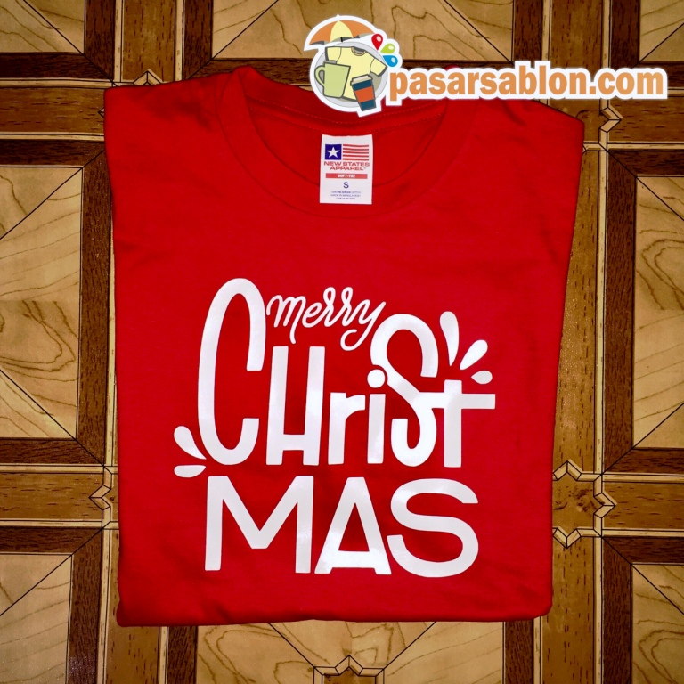 Terimakasih Pesanan Kaos Natal Warna Merah