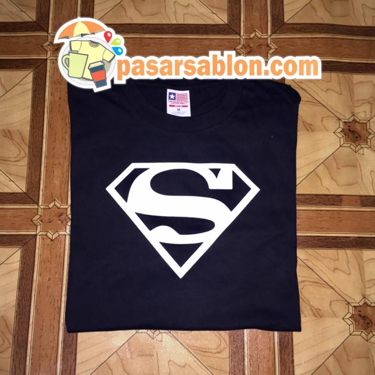Terimakasih Pesanan Kaos Pasar Sablon Superman Hitam