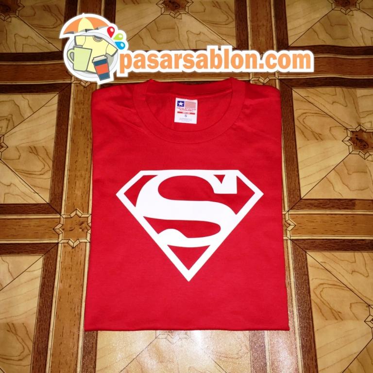 Terimakasih Pesanan Kaos Pasar Sablon Superman Merah