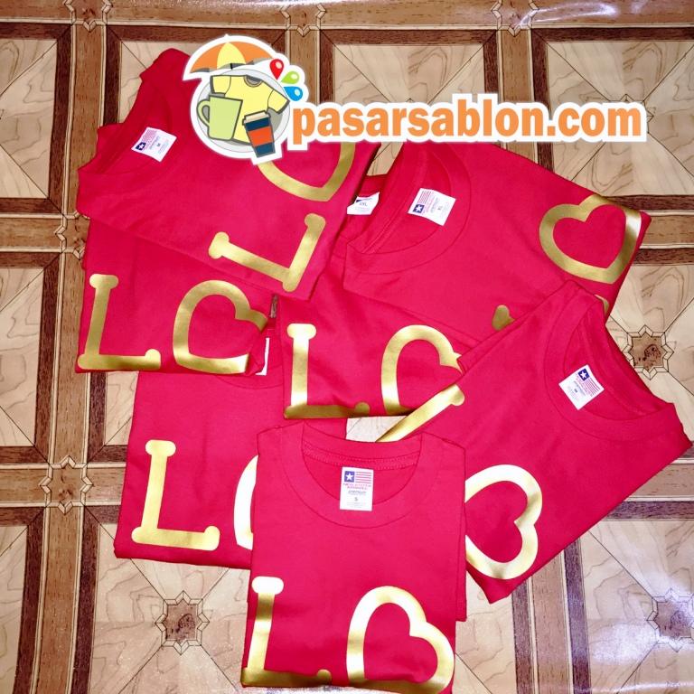 Terimakasih Pesanan Kaos Sablon Love Premium
