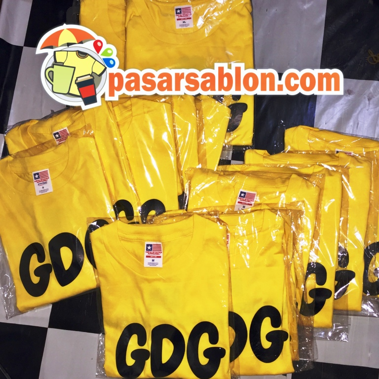 Terimakasih Pesanan Sablon Kaos GDG Gold