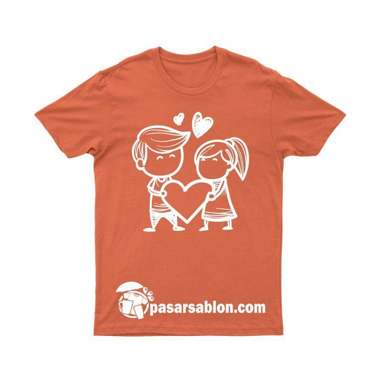 Jasa Sablon Kaos Love Couple Lucu