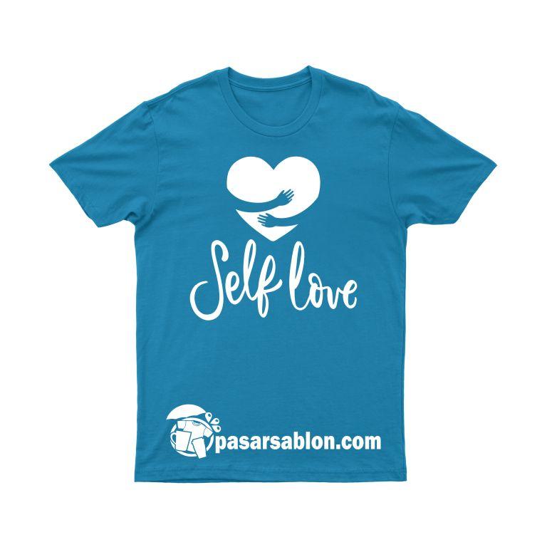Jasa Sablon Kaos Self Love Couple