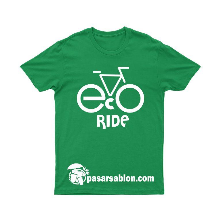 Jasa Sablon Kaos Surabaya Sepeda Eco Ride