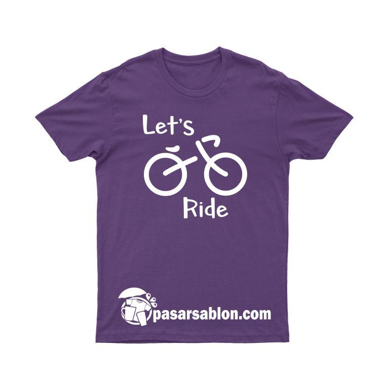 Jasa Sablon Kaos Surabaya Sepeda Let's Ride