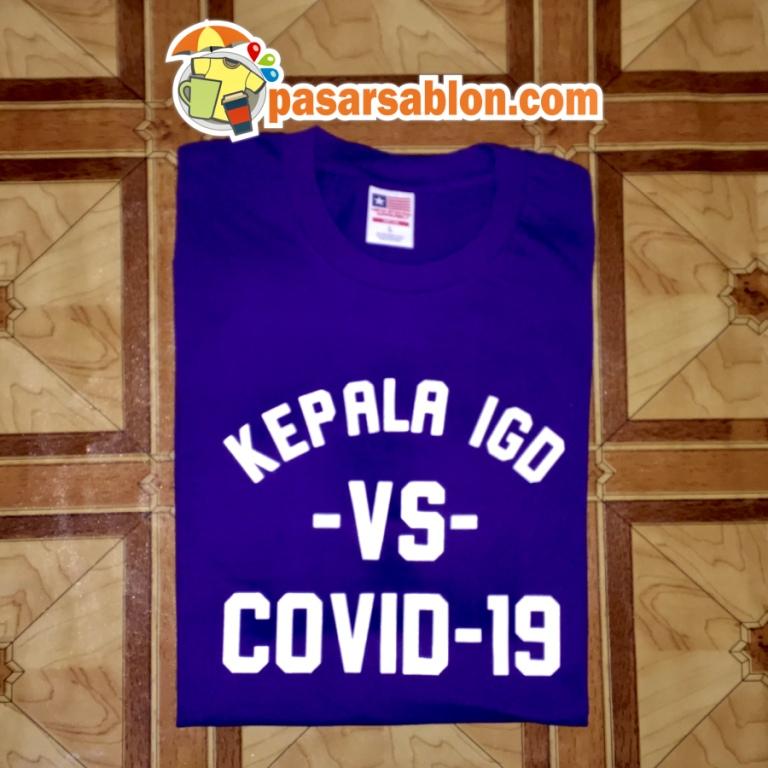 Jasa Sablon Kaos Surabaya Kepala IGD Vs Covid-19