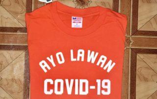 Pesanan Jasa Sablon Kaos Surabaya Ayo Lawan Covid 19 Orange