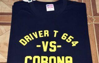 Jasa Sablon Kaos Kata Driver T 654 Vs Corona