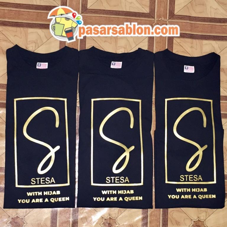 Jasa Sablon Kaos Kata Stesa Surabaya Tiga Kaos