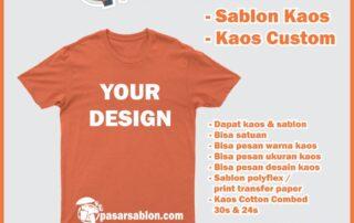 Jasa Sablon Kaos Bisa Desain Sendiri