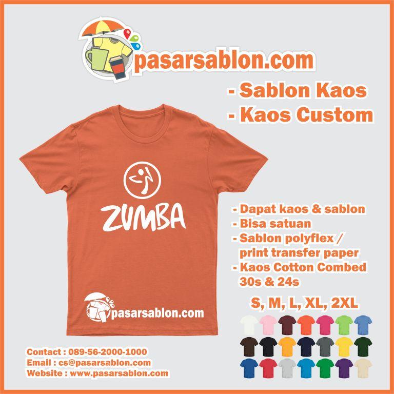 Jasa Sablon Kaos Satuan Zumba