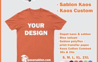 Sablon Kaos Satuan Surabaya Terbaik