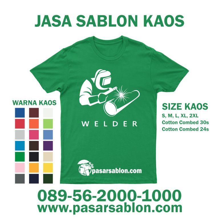 Jasa Sablon Kaos Satuan Welder Tukang Las